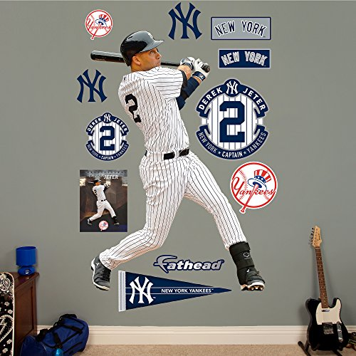 Fathead MLB New York Yankees Derek Jeter: Legacy - Life-Size Officially Licensed MLB Removable Wall Decal