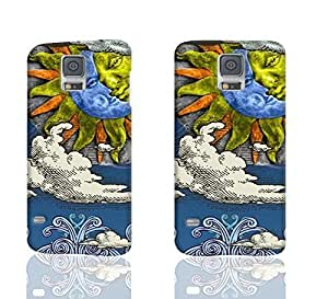 Sun And Moon Celestial 001 3D Rough Case Skin, fashion design image custom , durable hard 3D case cover for Samsung Galaxy S5 i9600 Regular, Case New Design By Codystore wangjiang maoyi by lolosakes