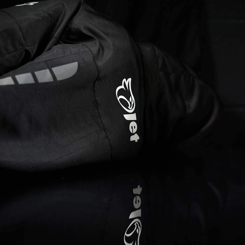 IT 44 , Nero JET Giacche moto donna leggero con larmatura impermeabile TASLAN L