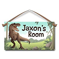 T-Rex Personalised Kids Door Sign