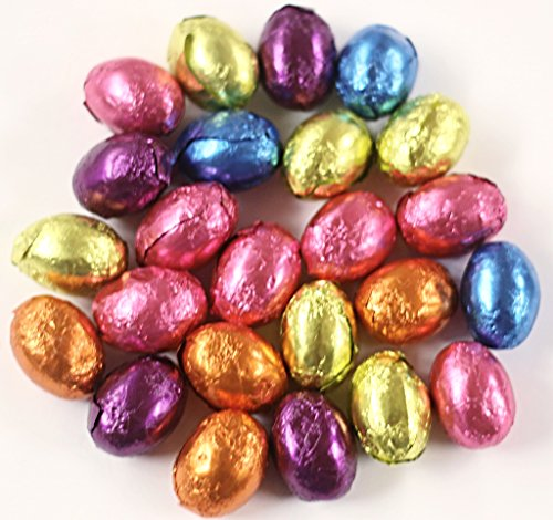 Scott's Cakes Foil Wrapped Solid Dark Chocolate Easter Eggs in a 1 Pound Clear Cello - Eggs Foil