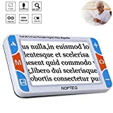 NOPTEG 5.0-inch Handheld Mobile Portable Video Digital Magnifier Electronic Low Vision Reading Aid with Multiple Color Modes, Voice Prompt Function (Magnification 4-32X)