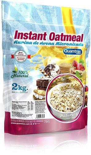 Quamtrax Nutrition Harina de avena micronizada - 2 kg: Amazon.es: Alimentación y bebidas
