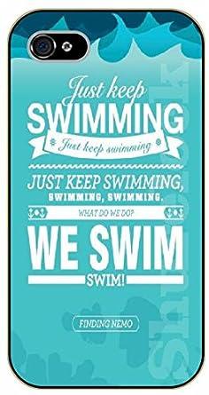 newest collection dbc4f 03c18 iPhone 6 Just keep swimming. We swim - black plastic case / Walt ...