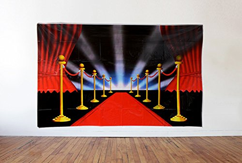 Hollywood Movie Premiere Night Photo Backdrop and Celebrity VIP Red Carpet Party Scene Setter - 3.6 x 6 ft