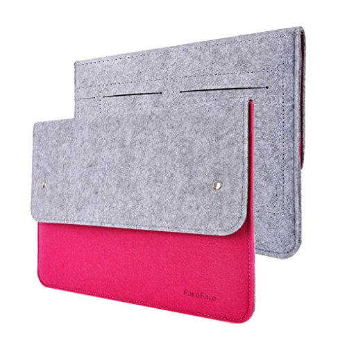 New Felt Slim 13 inch Laptop iPad Sleeve Cover Case Protector Envelope Briefcase Holder Carrying Clutch Bag for Apple 13-13.3 inch MacBook Air/Pro/MacBook Pro Retina, Ultrabook/Netbook