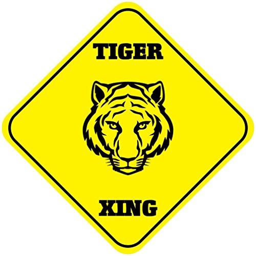 - Aluminum Cross Sign Tiger Crossing Style G Metal Wall Decor - 12