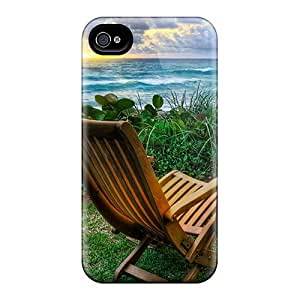 Cute Appearance Cover/tpu Chair5698 Case For Iphone 4/4s