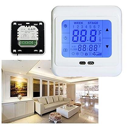 Vingo® 10 x LCD Termostato Digital Interior Termostato para calefacción por suelo radiante (máximo