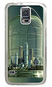 Samsung S5 awesome cases Caged City PC Transparent Custom Samsung Galaxy S5 Case Cover