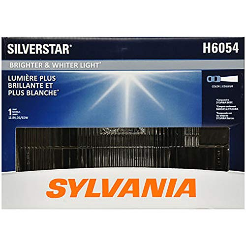 SYLVANIA - H6054 SilverStar Sealed Beam Headlight - High Performance Halogen Headlight Replacement (142x200), Brighter & Whiter Light for Added Clarity Downroad and Sideroad, (Contains 1 ()