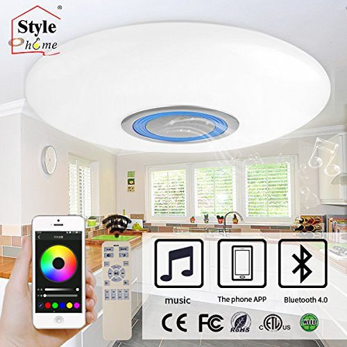 Style Home Led Rgb Dimmable Ceiling Lamp With Bluetooth Speaker