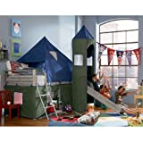 Powell Boys Blue & Green Twin Tent Bunk Bed with Slide