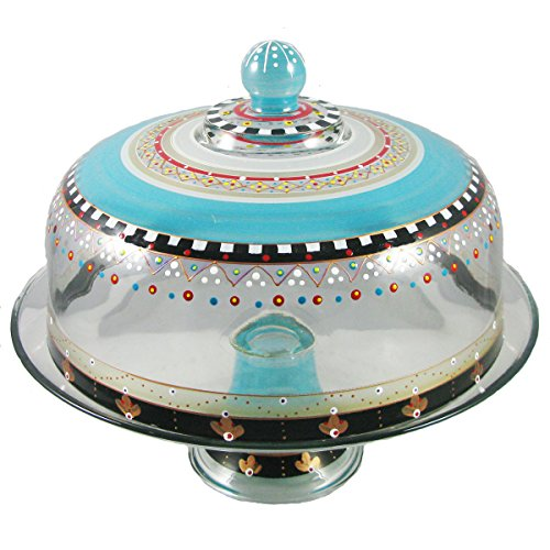 - Golden Hill Studio Beautiful Cake Dome Hand Painted in the USA by American Artists