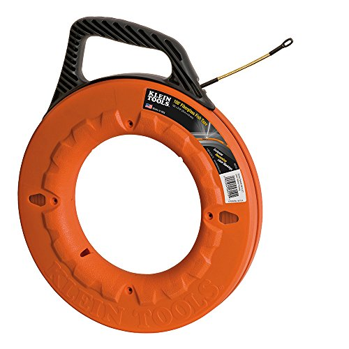 (Fish Tape 100-Foot is Non-Conductive Fiberglass, Flexible for Conduit Measuring as Pull Line Klein Tools 56010)
