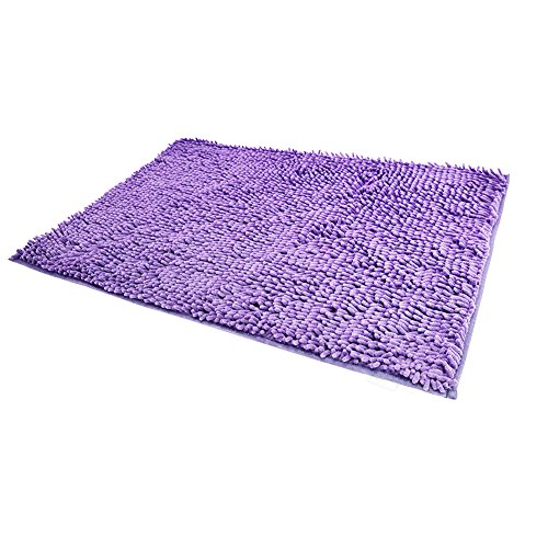 RoomDiary Non Slip Absorbent Bath Mat Bathroom Shower Rugs Carpet Machine Washable-Lilac, 20 x 32 Inches