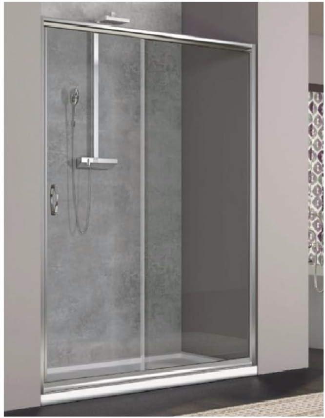 R/éversible droite//gauche largeur 110 cm Cabine de douche en verre mat tremp/é de 6 mm pour un c/ôt/é du lieu de portes lat/érales coulissantes hauteur 190 cm