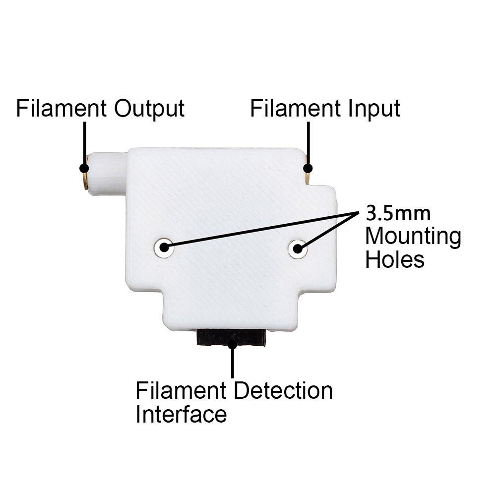 1.75mm 3D Printer Filament Detection Sensor Module Filament Run Out Pause Monitor for 3D Printer DIY Kit