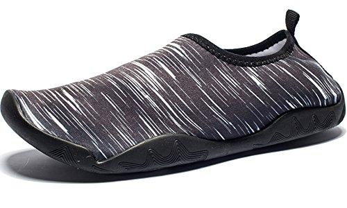 DOTACOKO Aqua Schuhe Männer Frauen Kinder Leichte Schnell Trocknende Wasserschuhe Sport Turnschuhe Für Strand Schwarz1