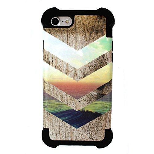 California Skies x Ocean Wood Design Phone Case (iPhone 8 / iPhone 7 TOUGH)