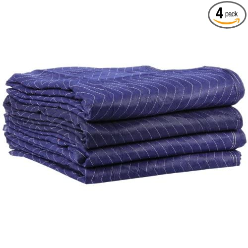 Moving Blanket (4-Pack) 72 X 80 US Cargo Control - Econo Saver (3.5 Lbs/Each, Blue/Blue)
