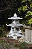 Stone Concrete Two Tier Japanese Koi Pagoda Marbella Art.