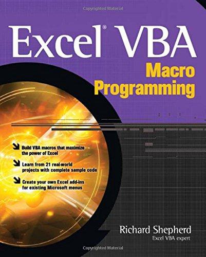 Excel VBA Macro Programming