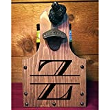 Personalized Rustic Wood Beer Caddy with Bottle Opener and...