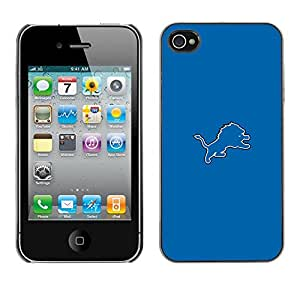 Eason Shop / Hard Slim Snap-On Case Cover Shell - Blue Tiger - For iPhone 4 / 4S