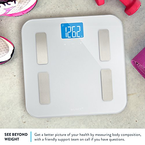 Digital Body Fat Weight Scale by GreaterGoods, Accurate Health Metrics, Body Composition & Weight Measurements, Glass Top, with Large Backlit Display by Greater Goods (Image #1)