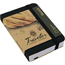 Pentalic Traveler Pocket Journal Sketch, 3-Inch by 4-Inch, Black