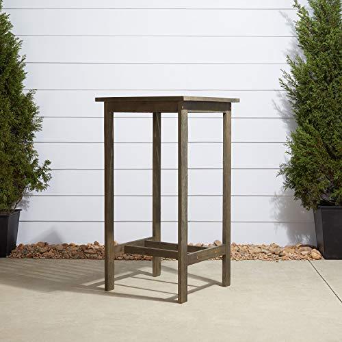 Vifah V1355 Renaissance Outdoor Hand-Scraped Hardwood Bar Table (Outdoor Teak High Bar Table)