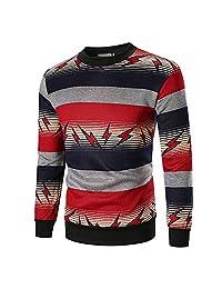 2018 Hoodie Sweatshirt,Men's Autumn Long Sleeve Printed Pullover Sweatshirt Top Tee Outwear Blouse for Men Teen Boys