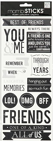 me & my BIG ideas mambiSTICKS Stickers, (Sayings Scrapbook Stickers)