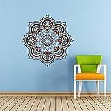 Mandala Wall Decal Namaste Flower Mandala Indian Lotus Yoga Wall Vinyl Decals Sticker Home Interior Wall Decor for Any Room Housewares Mural Design Graphic Bedroom Wall Decal Bathroom (5924)