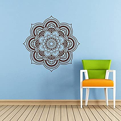 Mandala Wall Decal Namaste Flower Indian Lotus Yoga Vinyl Decals Sticker Home Interior