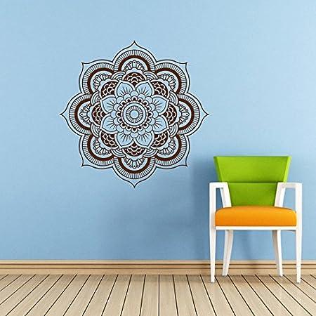 Mandala Wall Decal Namaste Flower Mandala Indian Lotus Yoga Wall Mesmerizing Wall Decor Design Graphics