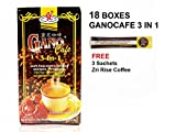 Gano Excel - 18 Boxes Gano Cafe 3 in 1 Instant Coffee with Ganoderma Plus FREE Sample + Free Express Shipping