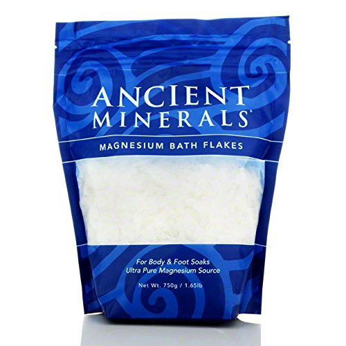 Ancient Minerals Ultra Pure Magnesium Bath Flakes For Body and Foot Soaks 750g