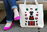 Beautiful Mexican Tote Bag in Natural Color