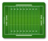 Football Mouse Pad by Smooffly, American Football Field Customized Rectangle Non-Slip Rubber Mousepad Gaming Mouse Pad