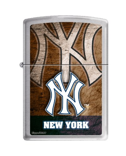 Zippo New York Yankees Brushed Chrome Pocket Lighter ()