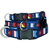 Nautical Dog Collar, Anchors Away, My Pet Supplies