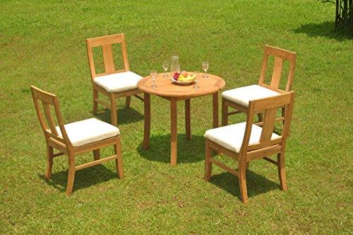 (TeakStation 4 Seater Grade-A Teak Wood 5 Pc Dining Set: 36