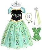 AmzBarley Anna Costume Kids Dress Girls Princess Fairy Tales Pretend Play Dress up