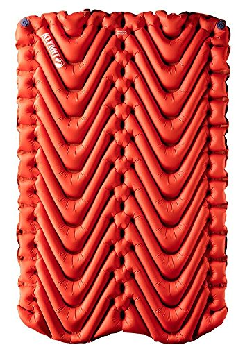 Klymit Insulated Double V Sleeping Pad, 2 Person, Double Wide (47 inches), Lightweight Comfort for Car Camping, Two Person Tents, Travel, and -