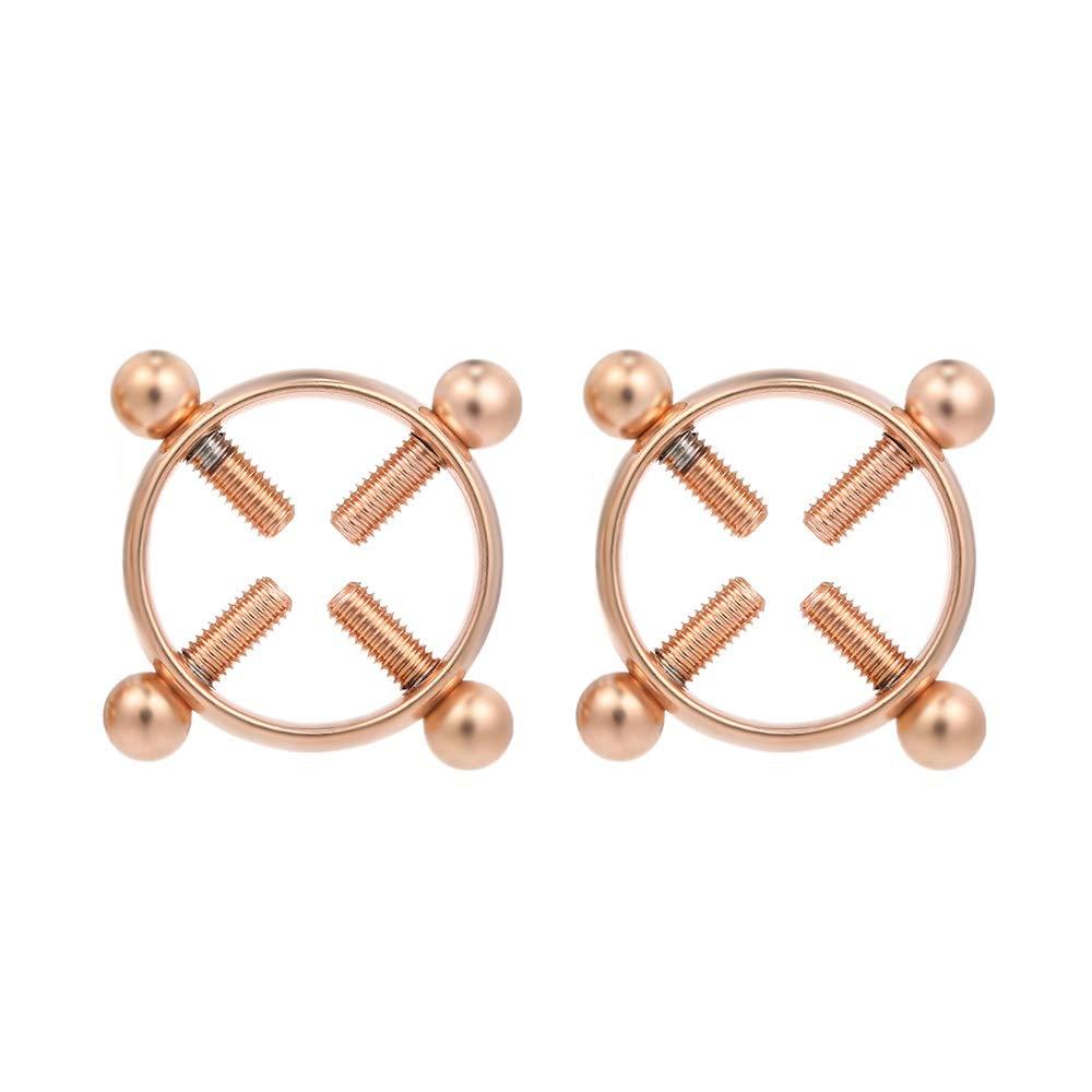 1 Pair of Non-Piercing Adjustable Nipple Rings for Women Circle Nipple G3D0