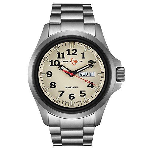 Armourlite AL815 Officer Series Stainless Steel Watch - Beige Dial