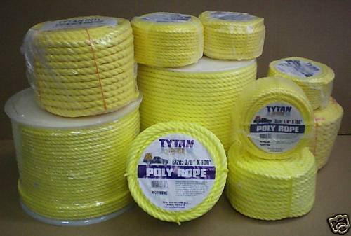 600 Foot Yellow Poly Rope - 5