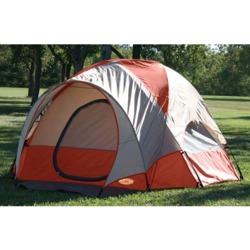 Texsport Pebble Creek 2 Person Vestibule Tent (Red/Tan, 8-Feet X 7-Feet X 54-Inch)